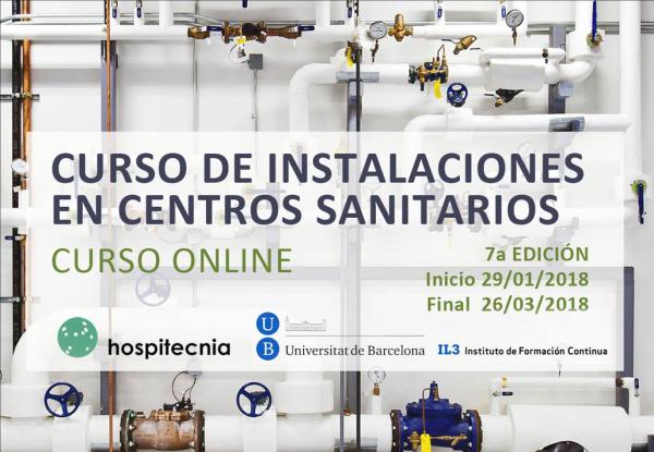 Curs on-line instal·lacions centres sanitaris